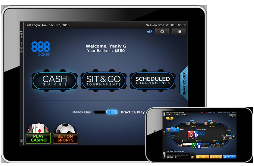 888 Poker на iOS
